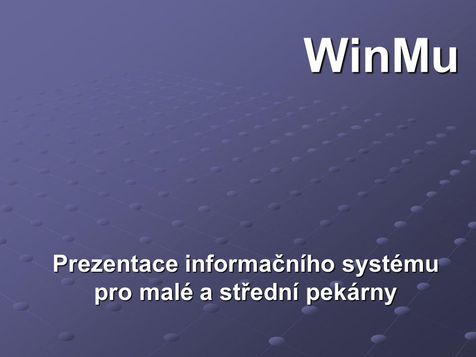 Prezentace informačního systému pro malé a střední pekárny