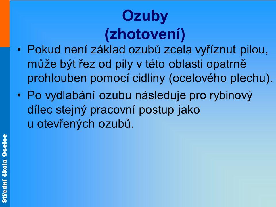 Ozuby (zhotovení)
