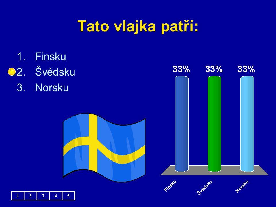 Tato vlajka patří: Finsku Švédsku Norsku 1 2 3 4 5