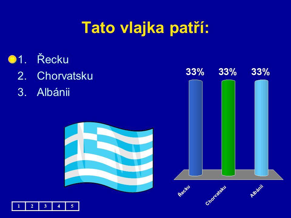 Tato vlajka patří: Řecku Chorvatsku Albánii 1 2 3 4 5