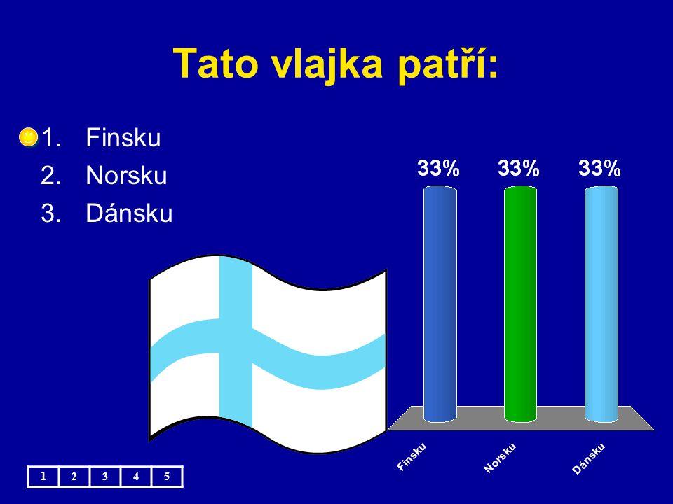 Tato vlajka patří: Finsku Norsku Dánsku 1 2 3 4 5