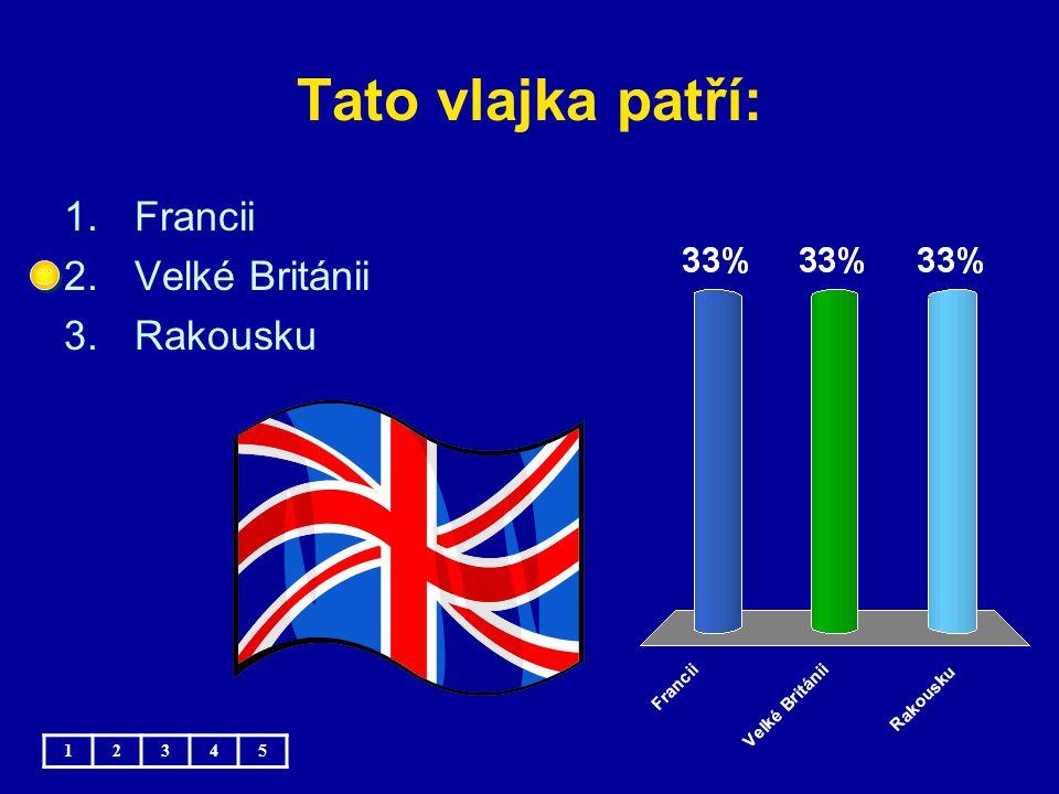 Tato vlajka patří: Francii Velké Británii Rakousku 1 2 3 4 5