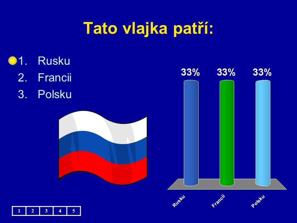 Tato vlajka patří: Rusku Francii Polsku 1 2 3 4 5