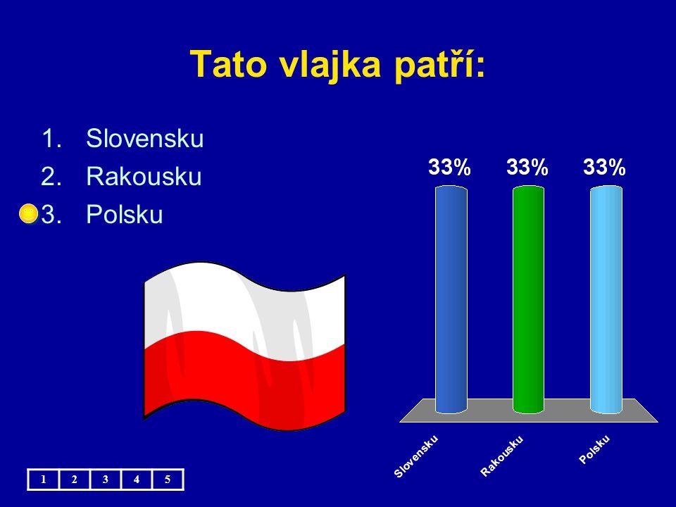 Tato vlajka patří: Slovensku Rakousku Polsku 1 2 3 4 5