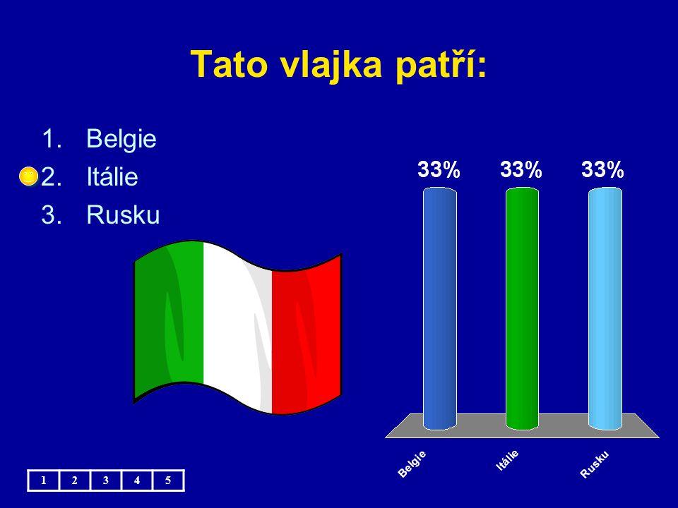 Tato vlajka patří: Belgie Itálie Rusku 1 2 3 4 5