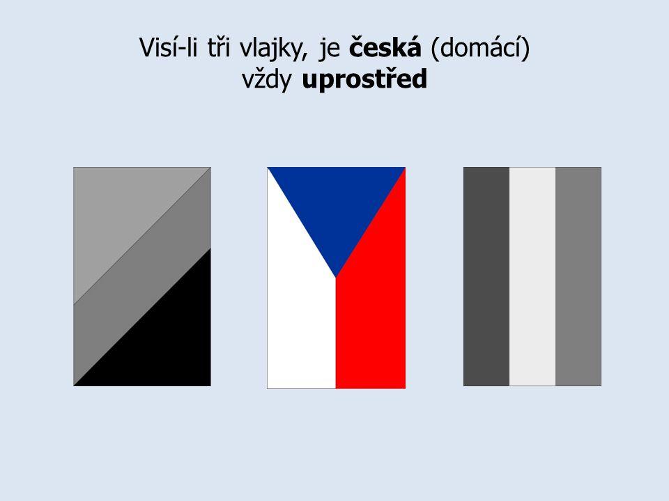Visí-li tři vlajky, je česká (domácí) vždy uprostřed