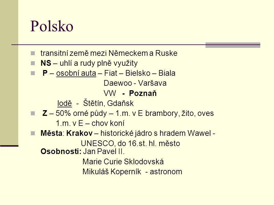 Polsko transitní země mezi Německem a Ruske