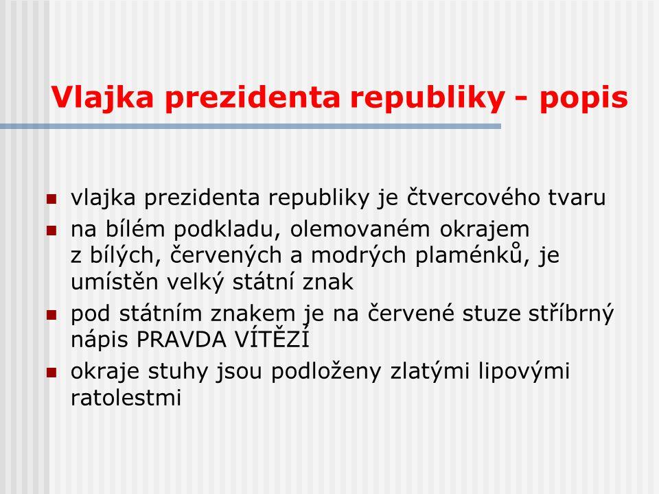 Vlajka prezidenta republiky - popis