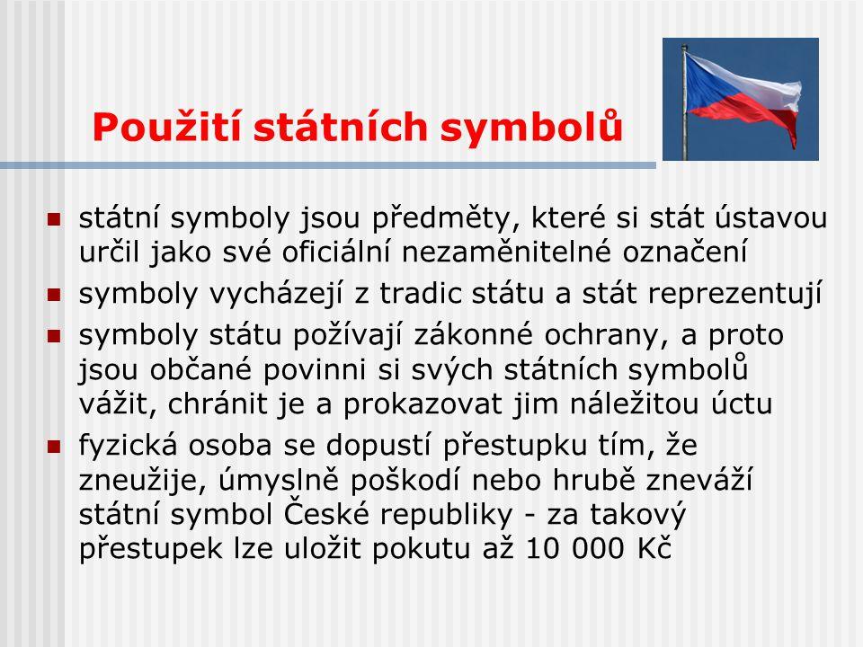 Použití státních symbolů