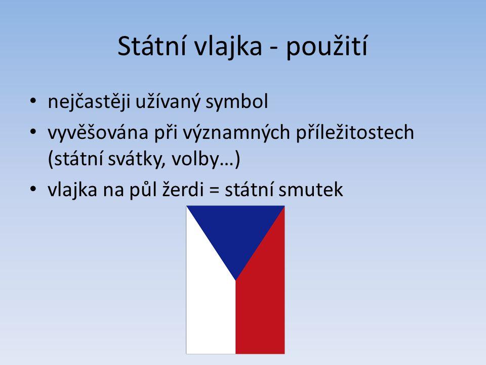 Státní vlajka - použití