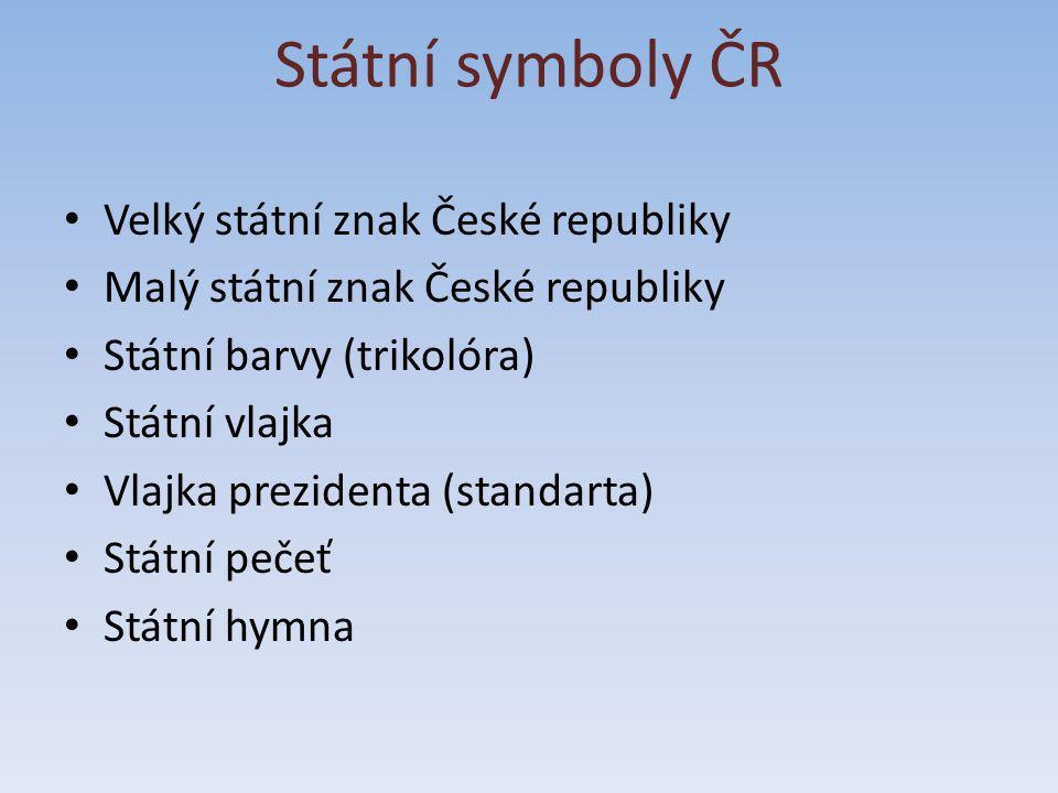 Státní symboly ČR Velký státní znak České republiky