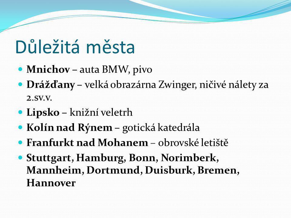 Důležitá města Mnichov – auta BMW, pivo