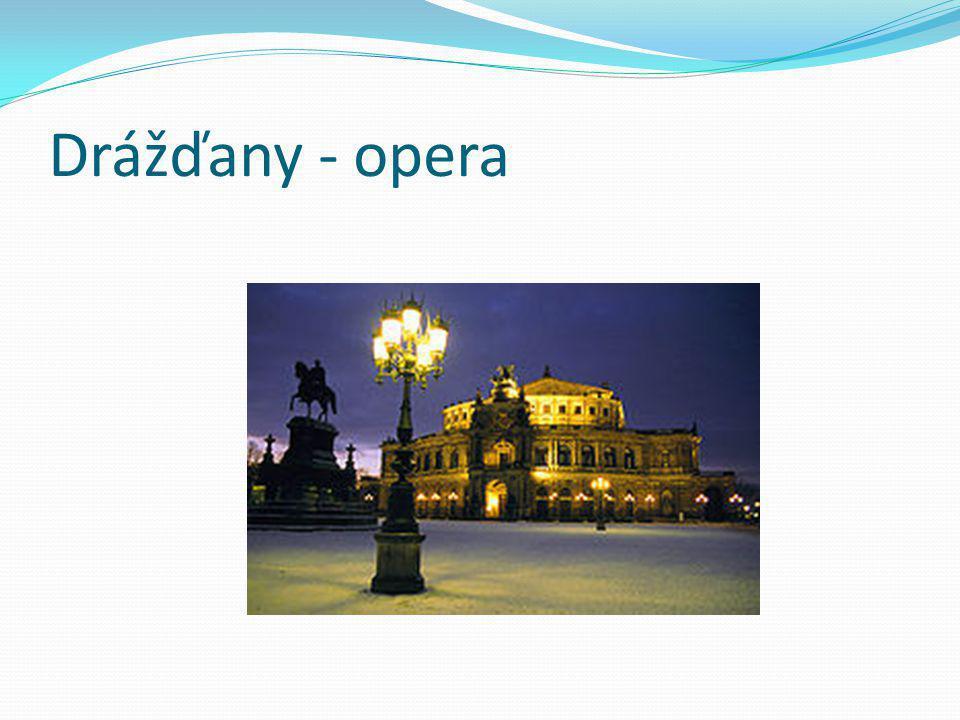 Drážďany - opera