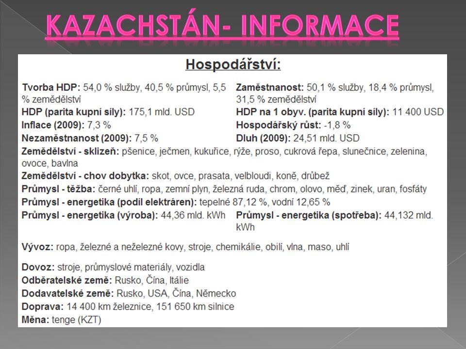 Kazachstán- informace