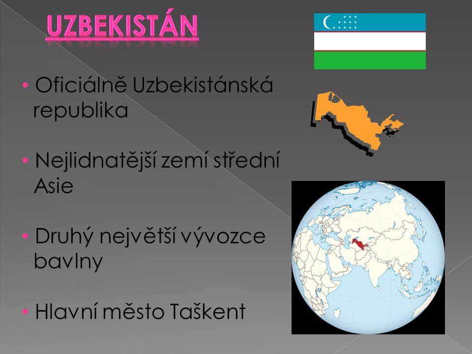 Uzbekistán Oficiálně Uzbekistánská republika
