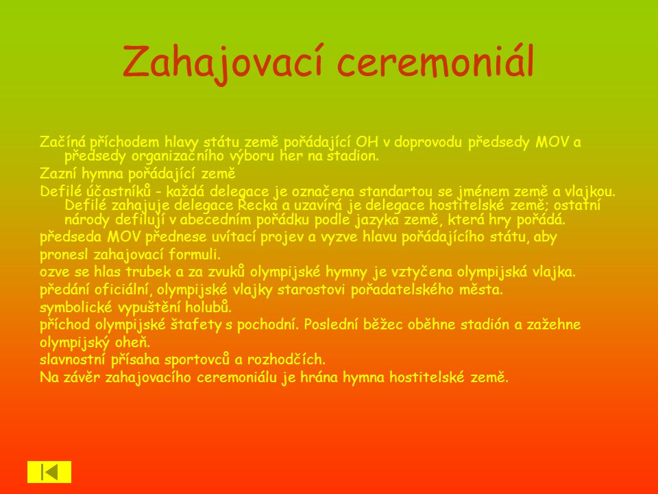 Zahajovací ceremoniál