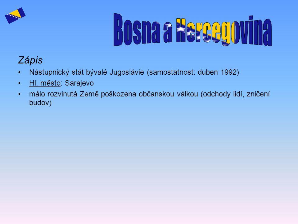 Bosna a Hercegovina Zápis