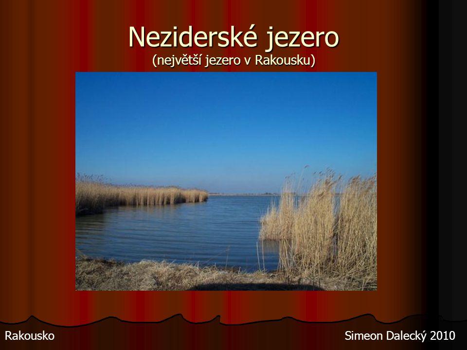 Neziderské jezero (největší jezero v Rakousku)