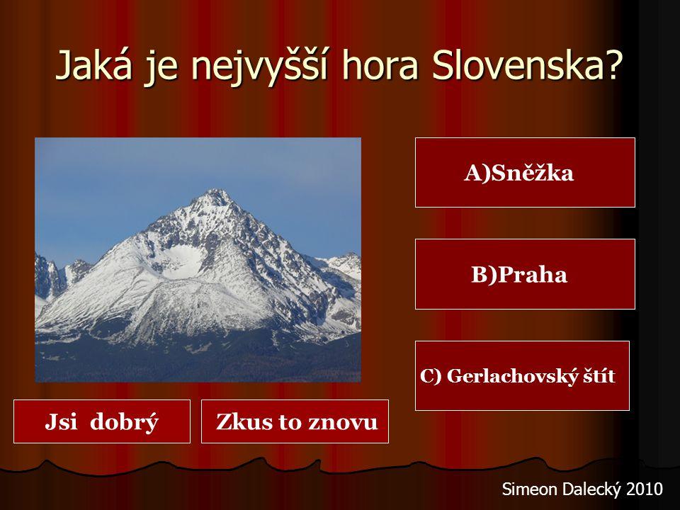 Jaká je nejvyšší hora Slovenska