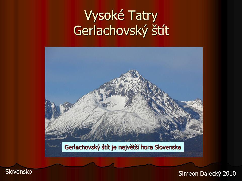 Vysoké Tatry Gerlachovský štít