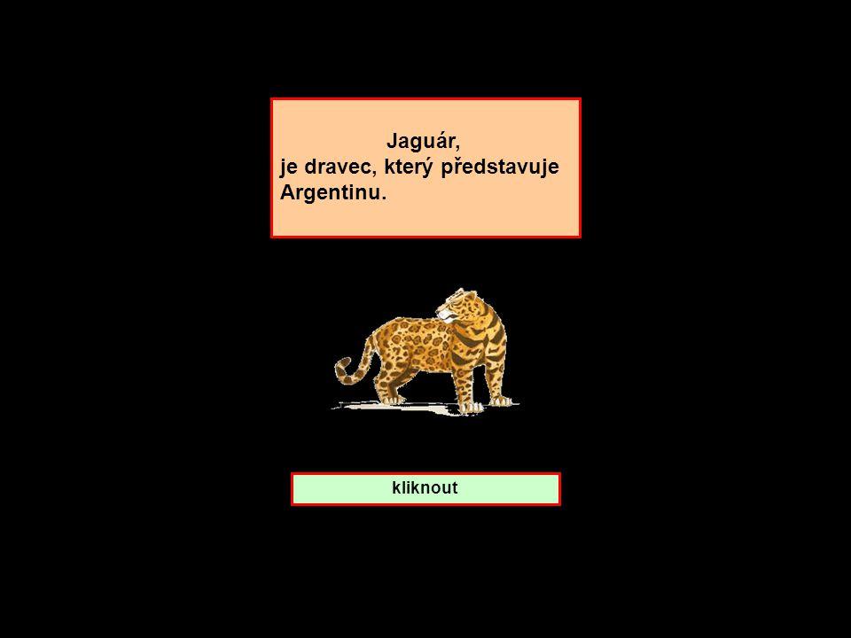 je dravec, který představuje Argentinu.