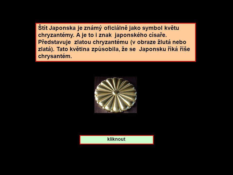 Štít Japonska je známý oficiálně jako symbol květu chryzantémy