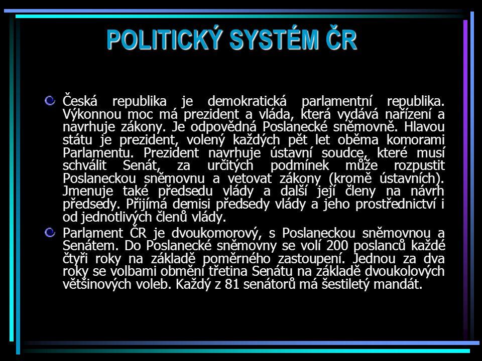 POLITICKÝ SYSTÉM ČR