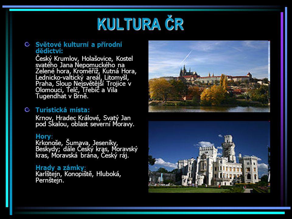 KULTURA ČR Světové kulturní a přírodní dědictví: