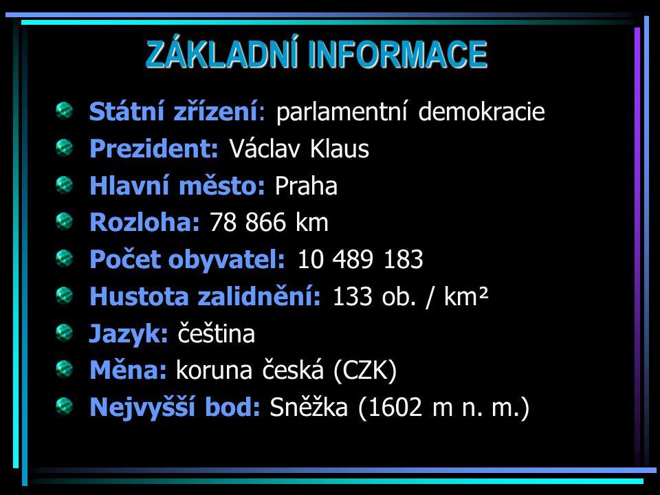 ZÁKLADNÍ INFORMACE Státní zřízení: parlamentní demokracie