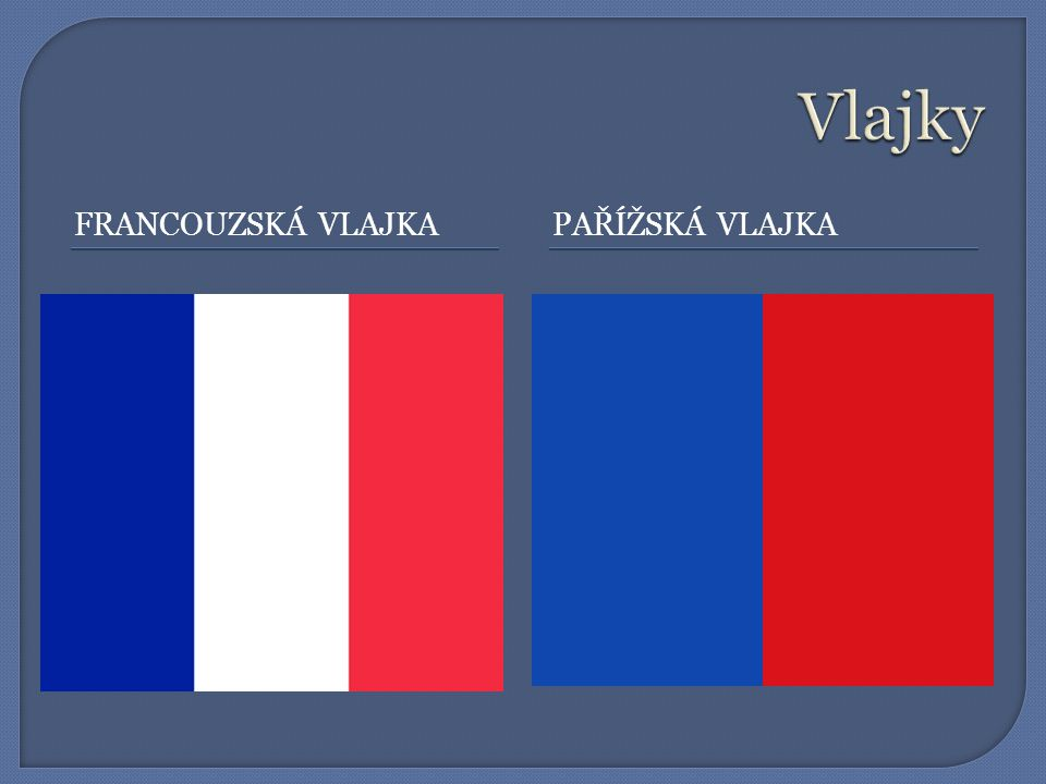 Vlajky Francouzská vlajka Pařížská vlajka