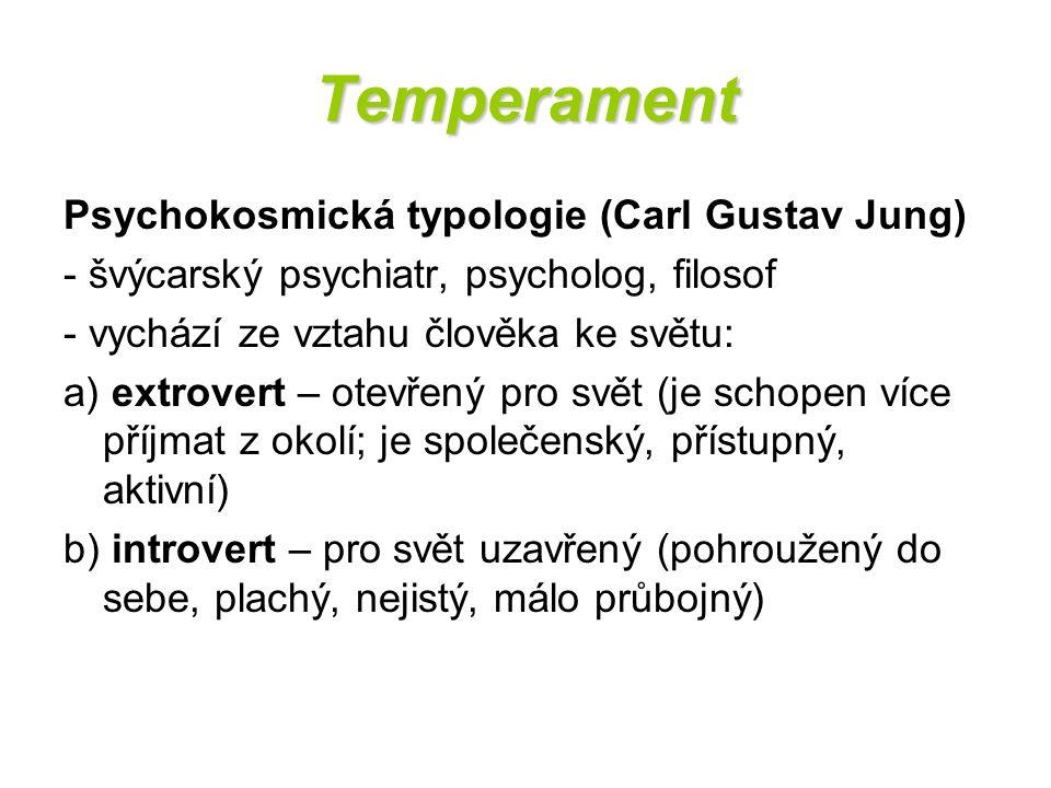 Temperament Psychokosmická typologie (Carl Gustav Jung)