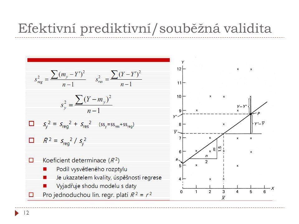 Efektivní prediktivní/souběžná validita