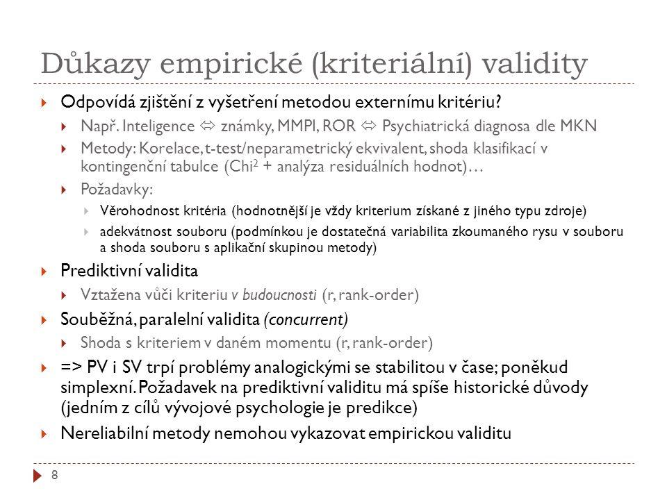 Důkazy empirické (kriteriální) validity