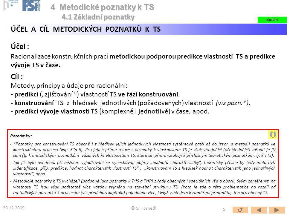 i 4 Metodické poznatky k TS 4.1 Základní poznatky