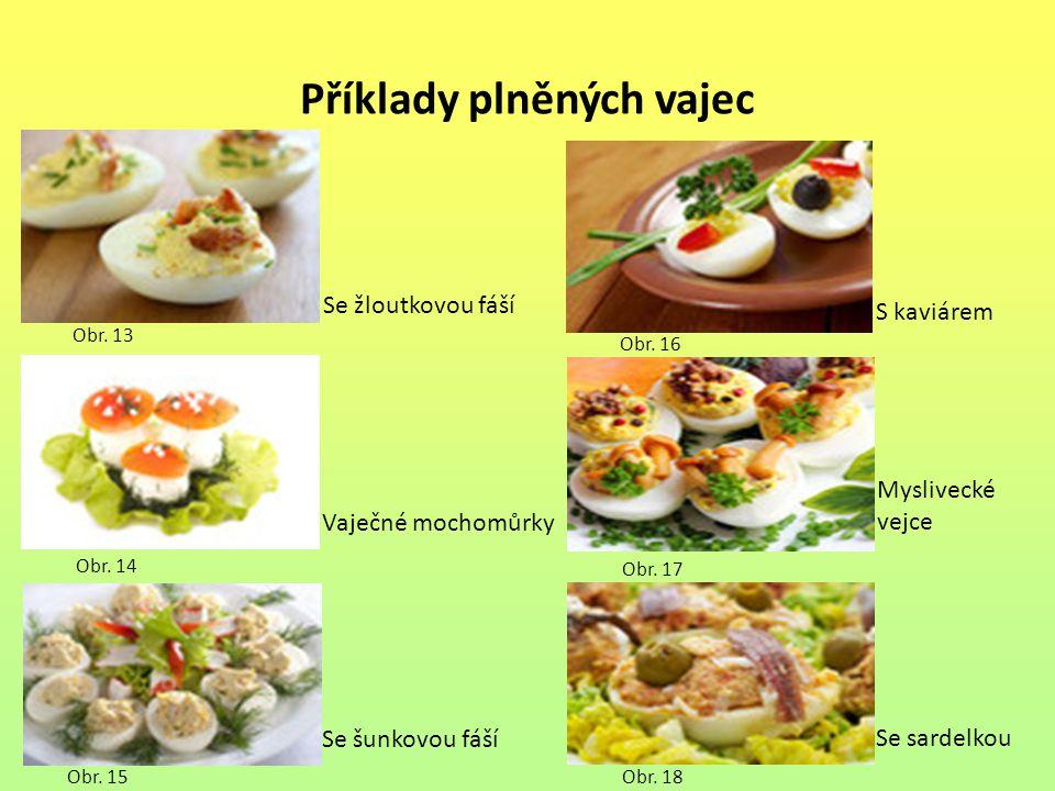 Příklady plněných vajec