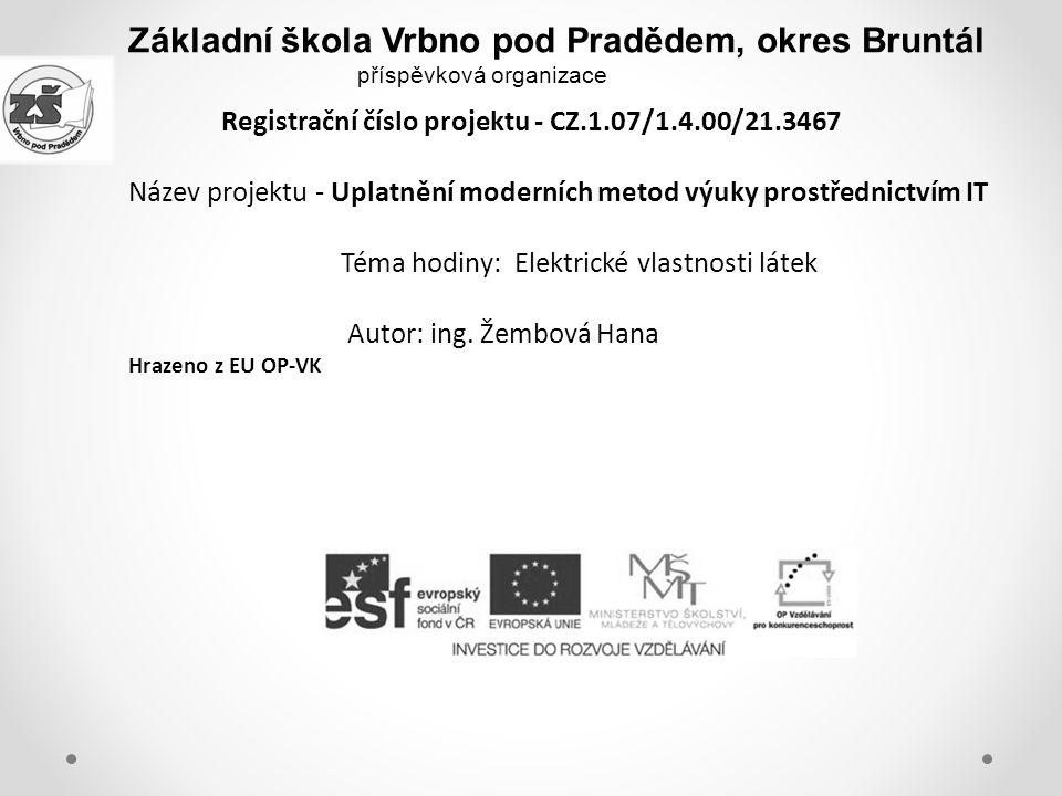 Základní škola Vrbno pod Pradědem, okres Bruntál