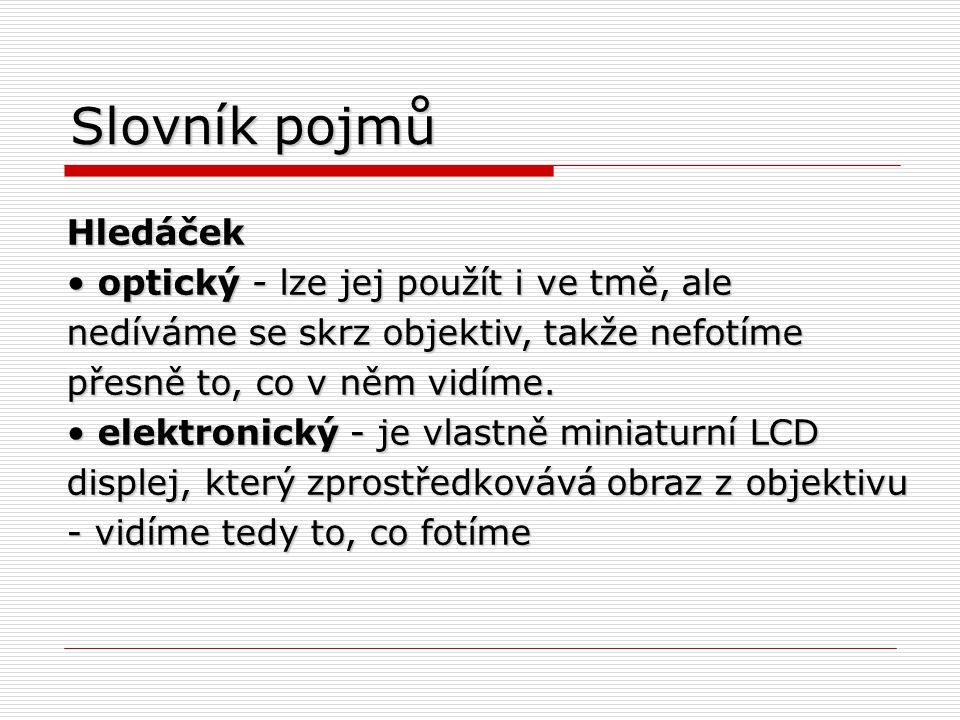 Slovník pojmů Hledáček