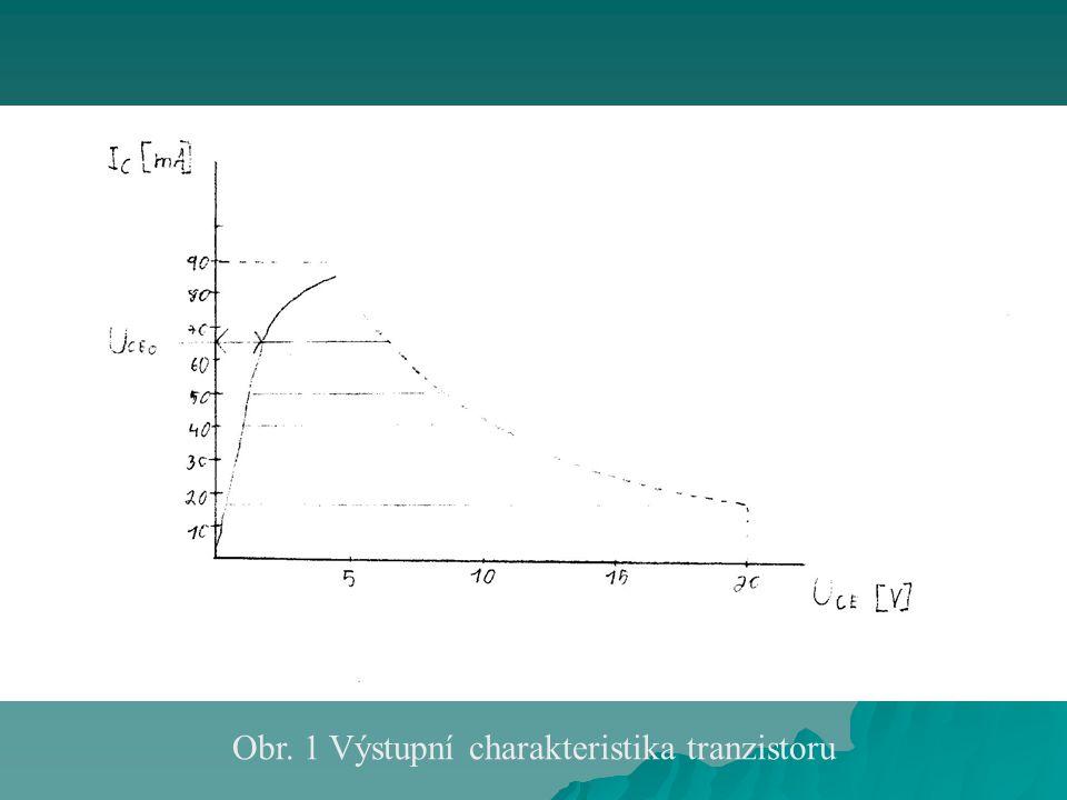 Obr. 1 Výstupní charakteristika tranzistoru