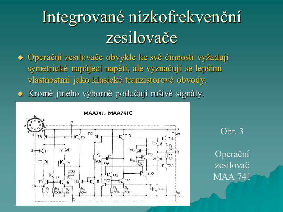 Integrované nízkofrekvenční zesilovače
