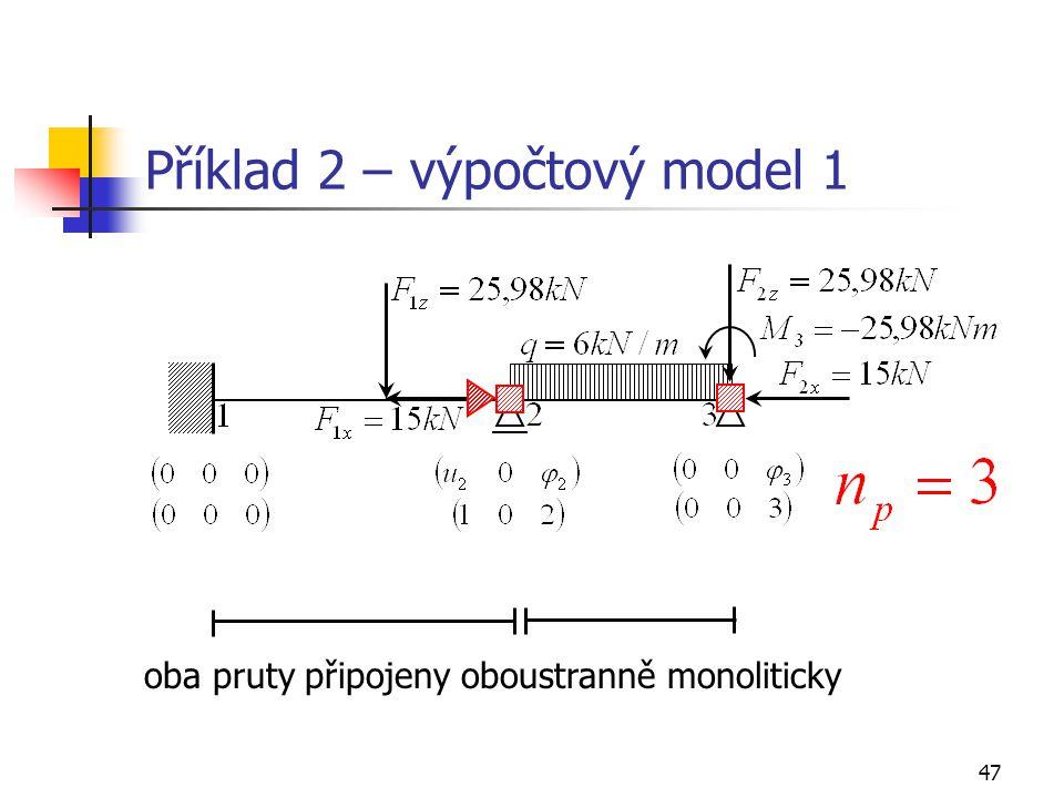 Příklad 2 – výpočtový model 1