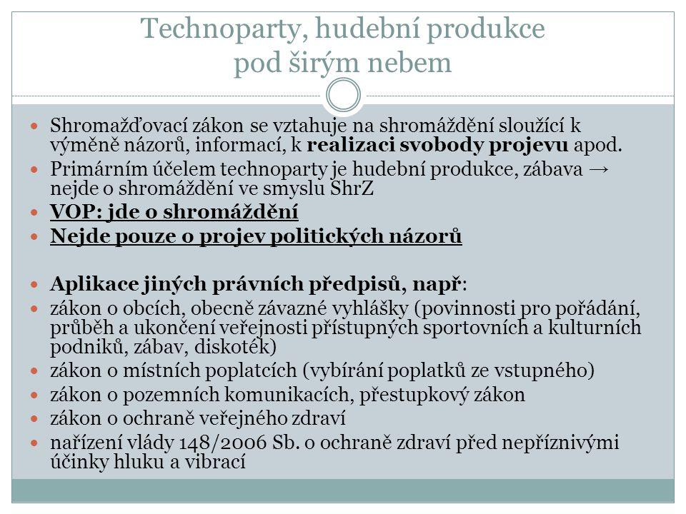 Technoparty, hudební produkce pod širým nebem