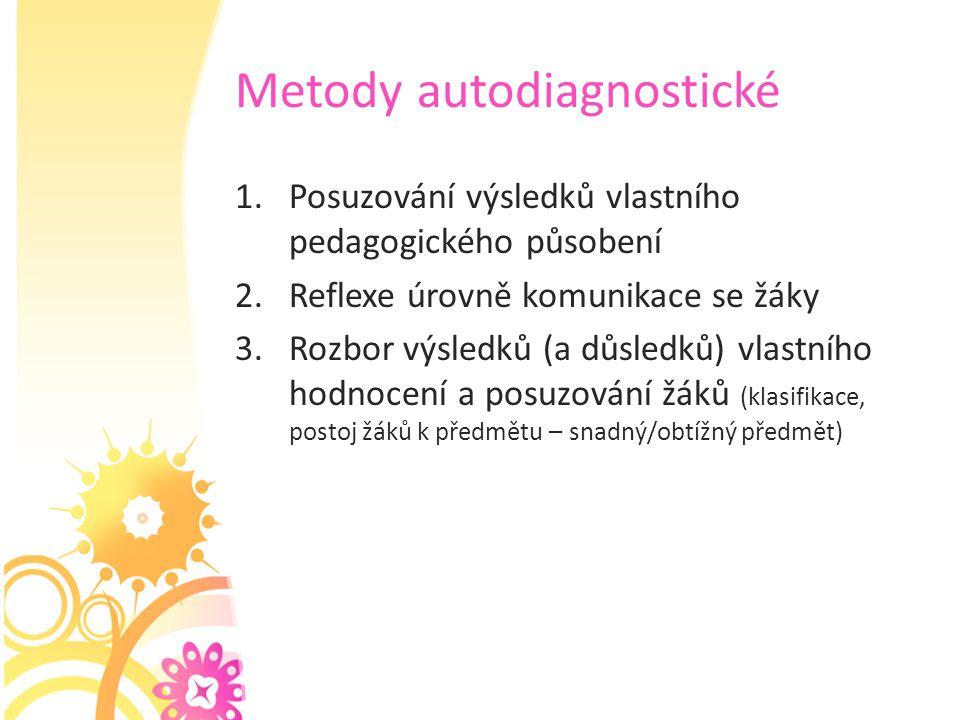 Metody autodiagnostické