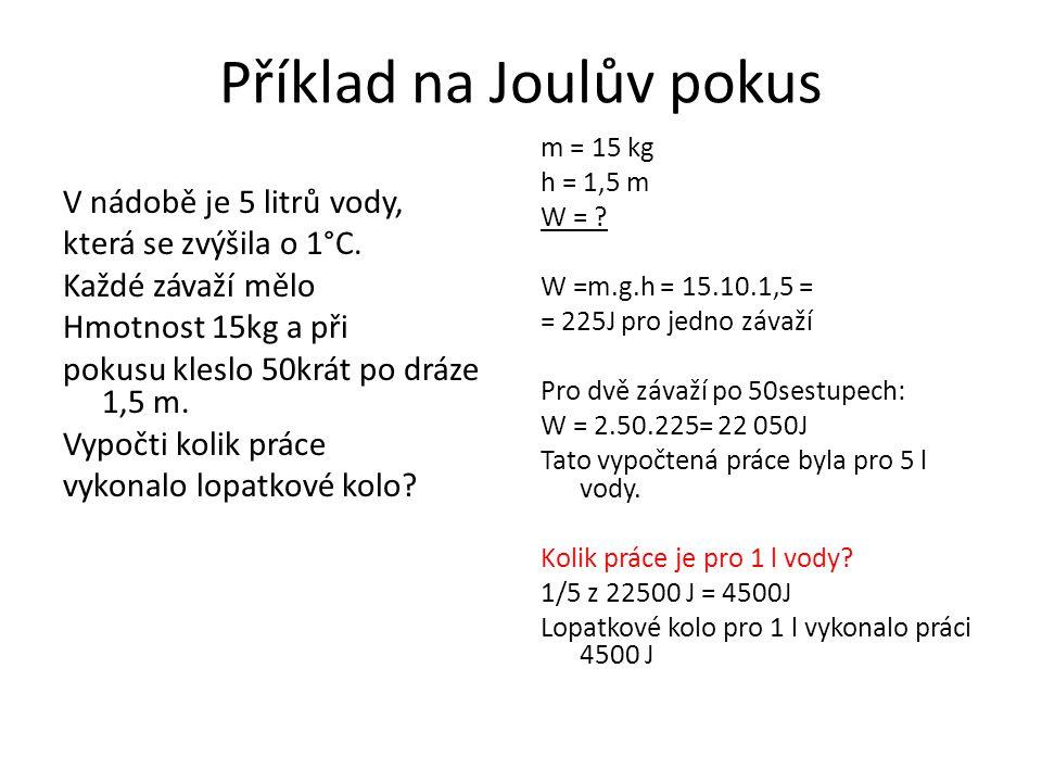 Příklad na Joulův pokus
