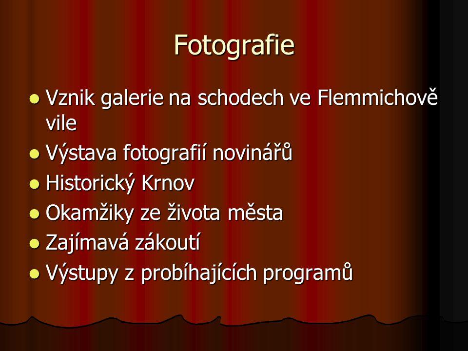 Fotografie Vznik galerie na schodech ve Flemmichově vile