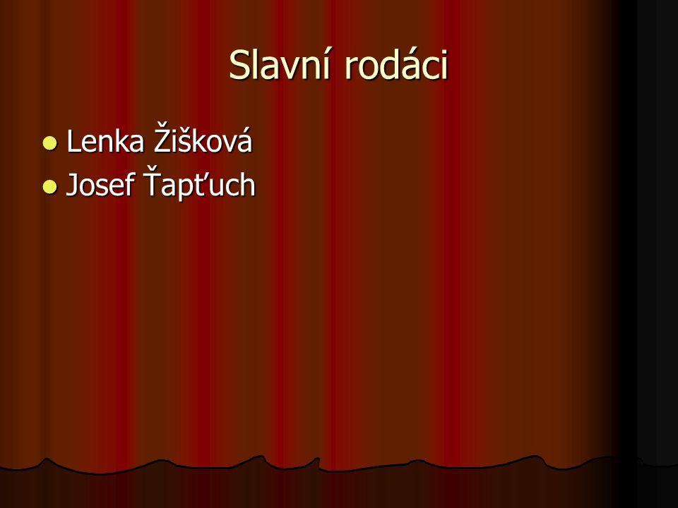 Slavní rodáci Lenka Žišková Josef Ťapťuch
