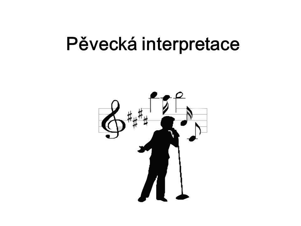 Pěvecká interpretace