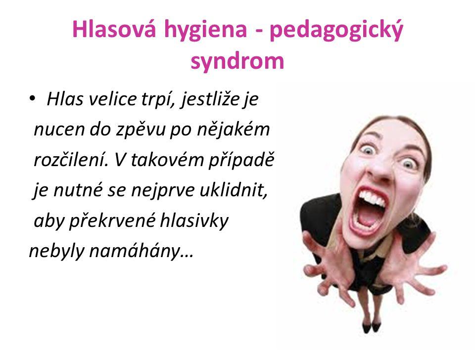 Hlasová hygiena - pedagogický syndrom