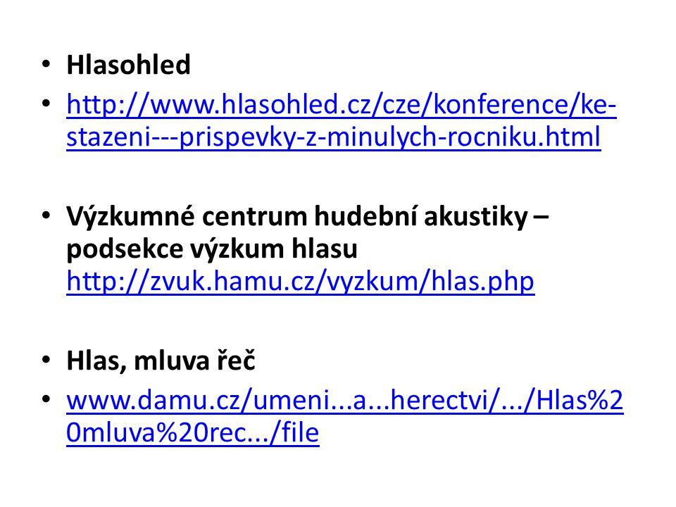 Hlasohled http://www.hlasohled.cz/cze/konference/ke-stazeni---prispevky-z-minulych-rocniku.html.