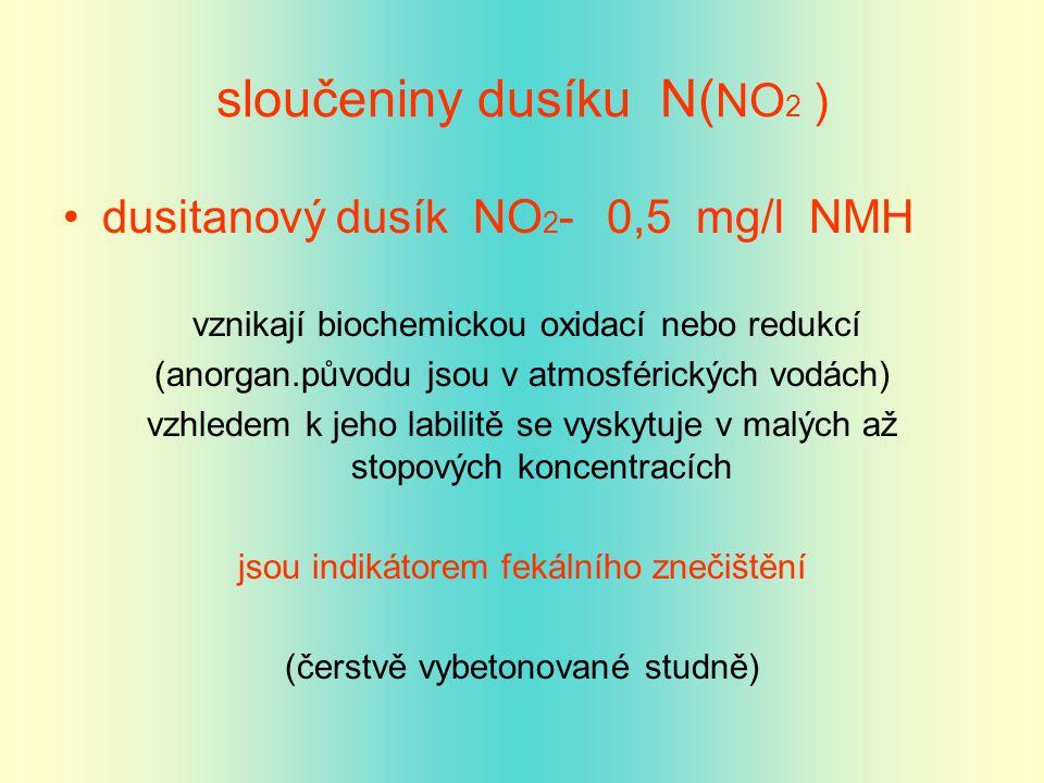 sloučeniny dusíku N(NO2 )