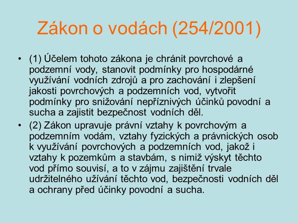 Zákon o vodách (254/2001)